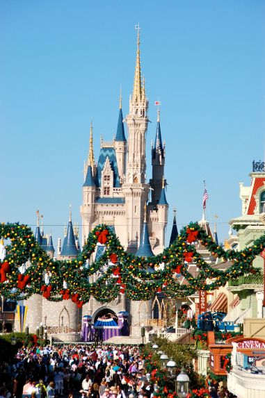 It's Christmas at The Magic Kingdom!