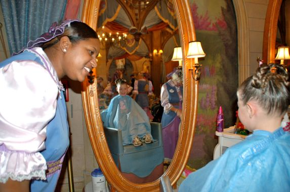 Bibbidi Bobbidi Boutique... this girl loves to be spoiled and get her hair, make up and nails done.