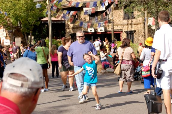 This is the happy dance I was greeted with as she ran to me and share how AWESOME the roller coaster was and that they were going on it again!